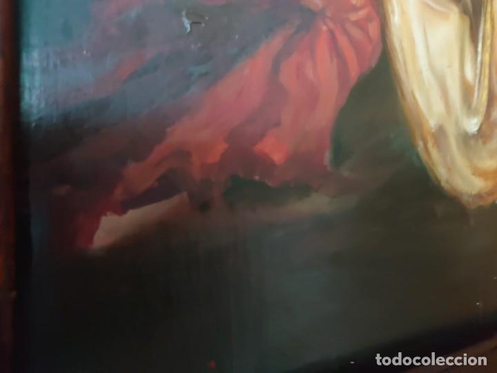 Arte: OLEO SOBRE TABLA LA ADORACION MAGOS RETABLO NEOCLASICO - Foto 16 - 277569418