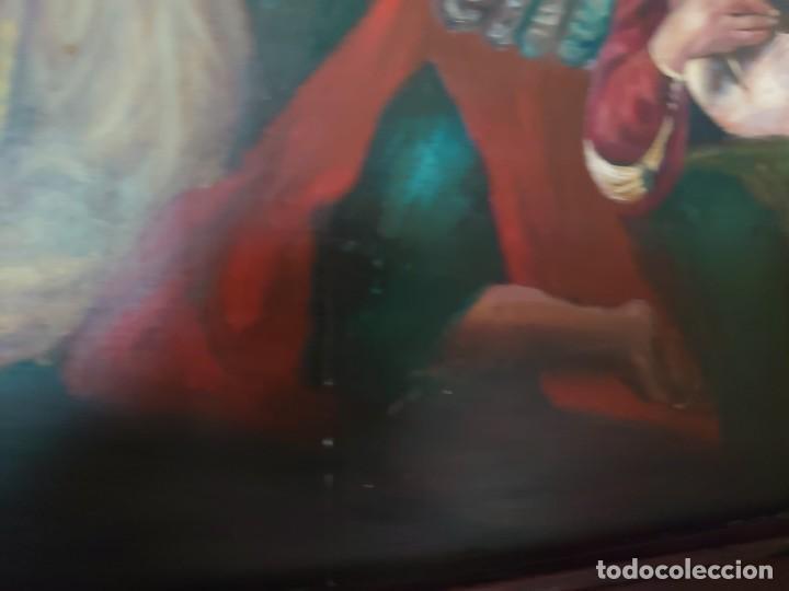 Arte: OLEO SOBRE TABLA LA ADORACION MAGOS RETABLO NEOCLASICO - Foto 17 - 277569418