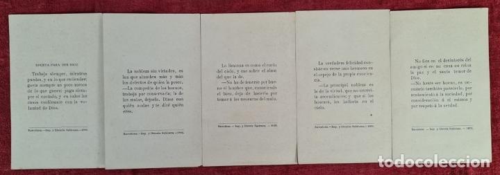 Arte: COLECCION DE 25 ESTAMPAS RELIGIOSAS. LITOGRAFIA SOBRE PAPEL. 1890. - Foto 2 - 277592123