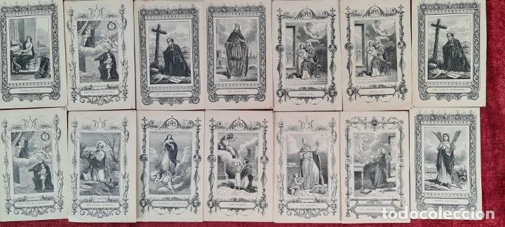 Arte: COLECCION DE 25 ESTAMPAS RELIGIOSAS. LITOGRAFIA SOBRE PAPEL. 1890. - Foto 3 - 277592123