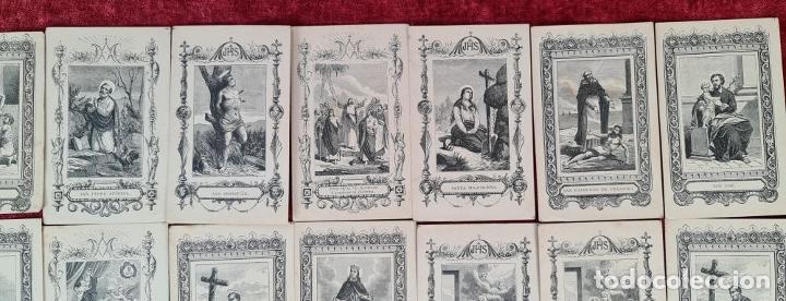 Arte: COLECCION DE 25 ESTAMPAS RELIGIOSAS. LITOGRAFIA SOBRE PAPEL. 1890. - Foto 5 - 277592123