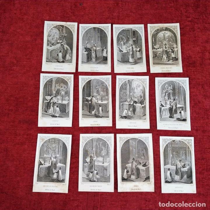 Arte: PARTES DE LA MISA. ESTAMPAS. ANGEL FATJÓ. LITOGRAFIA SOBRE PAPEL. ESPAÑA. SIGLO XIX - Foto 2 - 277599208
