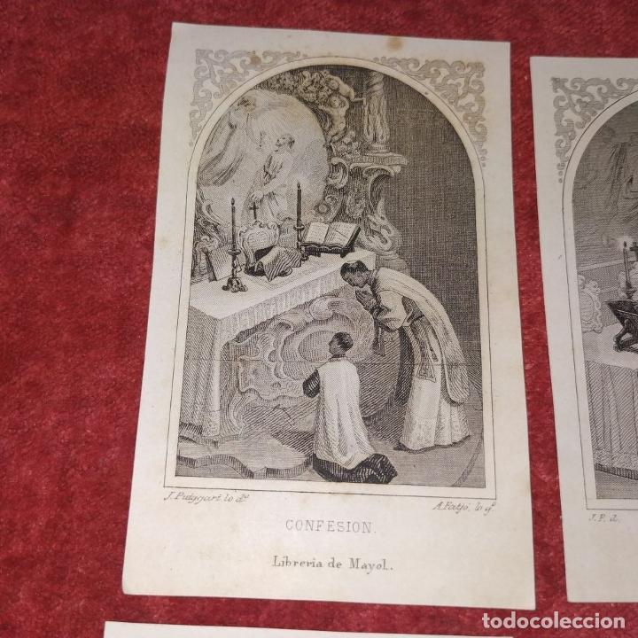 Arte: PARTES DE LA MISA. ESTAMPAS. ANGEL FATJÓ. LITOGRAFIA SOBRE PAPEL. ESPAÑA. SIGLO XIX - Foto 3 - 277599208