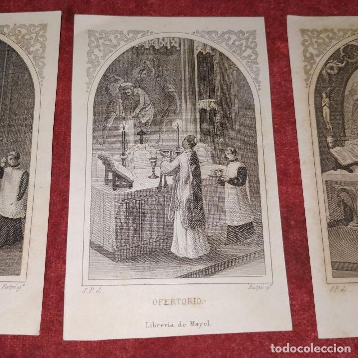 Arte: PARTES DE LA MISA. ESTAMPAS. ANGEL FATJÓ. LITOGRAFIA SOBRE PAPEL. ESPAÑA. SIGLO XIX - Foto 4 - 277599208