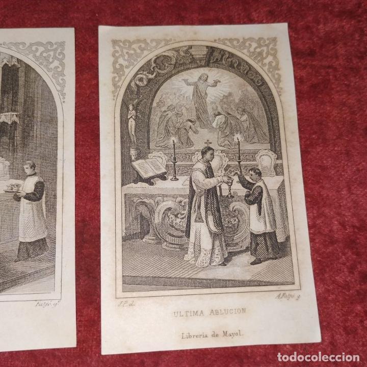 Arte: PARTES DE LA MISA. ESTAMPAS. ANGEL FATJÓ. LITOGRAFIA SOBRE PAPEL. ESPAÑA. SIGLO XIX - Foto 5 - 277599208