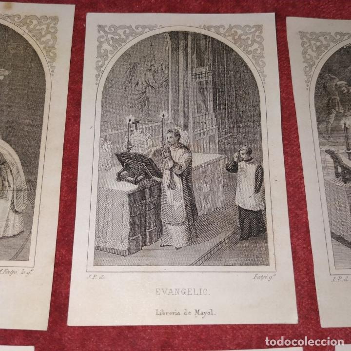 Arte: PARTES DE LA MISA. ESTAMPAS. ANGEL FATJÓ. LITOGRAFIA SOBRE PAPEL. ESPAÑA. SIGLO XIX - Foto 6 - 277599208