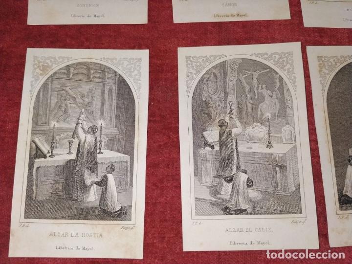 Arte: PARTES DE LA MISA. ESTAMPAS. ANGEL FATJÓ. LITOGRAFIA SOBRE PAPEL. ESPAÑA. SIGLO XIX - Foto 7 - 277599208