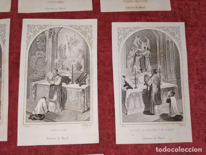 Arte: PARTES DE LA MISA. ESTAMPAS. ANGEL FATJÓ. LITOGRAFIA SOBRE PAPEL. ESPAÑA. SIGLO XIX - Foto 8 - 277599208
