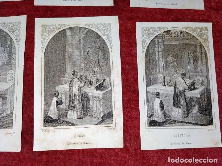 Arte: PARTES DE LA MISA. ESTAMPAS. ANGEL FATJÓ. LITOGRAFIA SOBRE PAPEL. ESPAÑA. SIGLO XIX - Foto 9 - 277599208