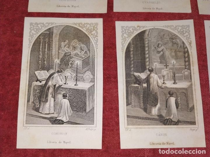 Arte: PARTES DE LA MISA. ESTAMPAS. ANGEL FATJÓ. LITOGRAFIA SOBRE PAPEL. ESPAÑA. SIGLO XIX - Foto 10 - 277599208