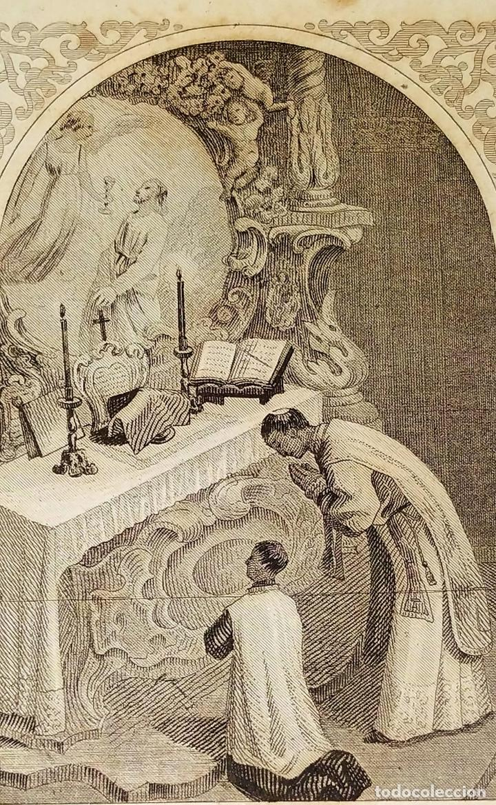 PARTES DE LA MISA. ESTAMPAS. ANGEL FATJÓ. LITOGRAFIA SOBRE PAPEL. ESPAÑA. SIGLO XIX (Arte - Arte Religioso - Litografías)