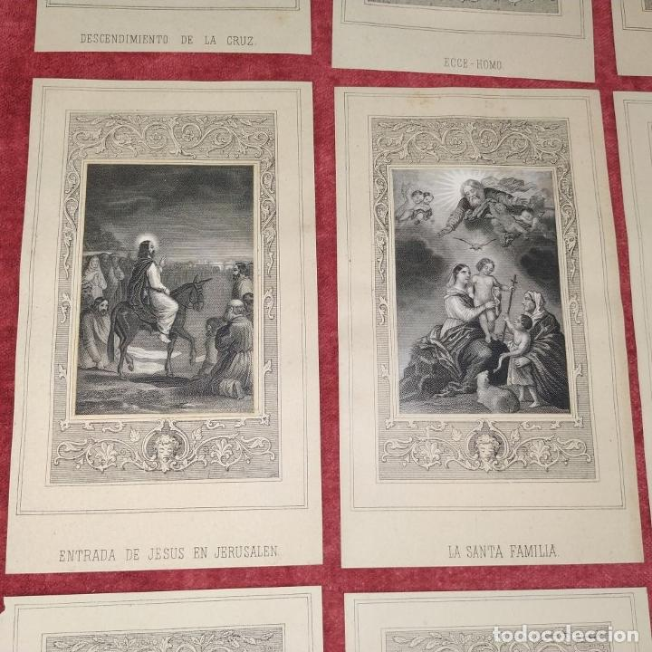 Arte: 14 ESTAMPAS RELIGIOSAS. VIDA DE JESÚS. GRABADO SOBRE PAPEL. ESPAÑA. SIGLO XIX - Foto 6 - 277601878