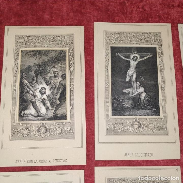 Arte: 14 ESTAMPAS RELIGIOSAS. VIDA DE JESÚS. GRABADO SOBRE PAPEL. ESPAÑA. SIGLO XIX - Foto 9 - 277601878