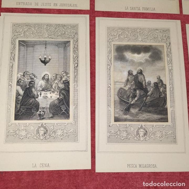 Arte: 14 ESTAMPAS RELIGIOSAS. VIDA DE JESÚS. GRABADO SOBRE PAPEL. ESPAÑA. SIGLO XIX - Foto 10 - 277601878