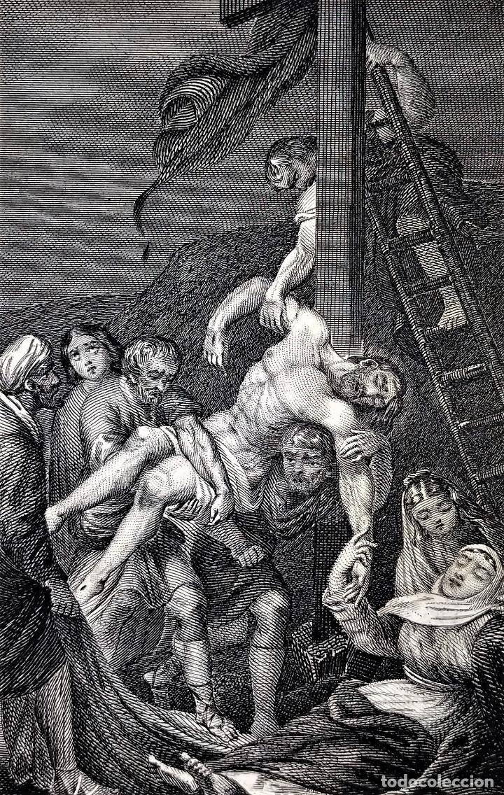 14 ESTAMPAS RELIGIOSAS. VIDA DE JESÚS. GRABADO SOBRE PAPEL. ESPAÑA. SIGLO XIX (Arte - Arte Religioso - Grabados)