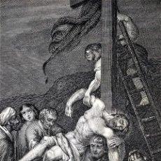 Arte: 14 ESTAMPAS RELIGIOSAS. VIDA DE JESÚS. GRABADO SOBRE PAPEL. ESPAÑA. SIGLO XIX. Lote 277601878