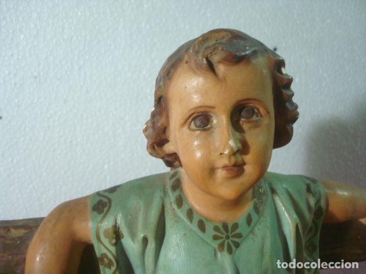 Arte: NIÑO JESUS EN LA CRUZ SAN JUANITO - Foto 2 - 277648683