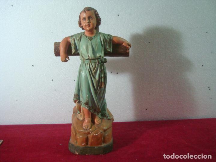 NIÑO JESUS EN LA CRUZ SAN JUANITO (Arte - Arte Religioso - Escultura)