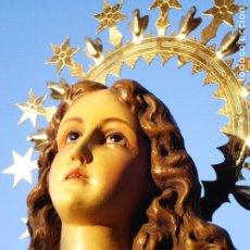Arte: INMACULADA CONCEPCIÓN CON ANGELES IMAGEN DE GRANDES MEDIDAS SELLADO. Lote 277677443