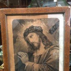 Arte: ANTIGUO GRABADO CRISTO JESUS NAZARENO - MEDIDA 56X45 CM E INTERIOR 49,5X38,5 CM - RELIGIOSO. Lote 277718148