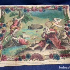Arte: GRABADO LATIN COLOR EL DILUVIO AHOGA A TODA LA TIERRA SXVIII 43X53CMS. Lote 278230088