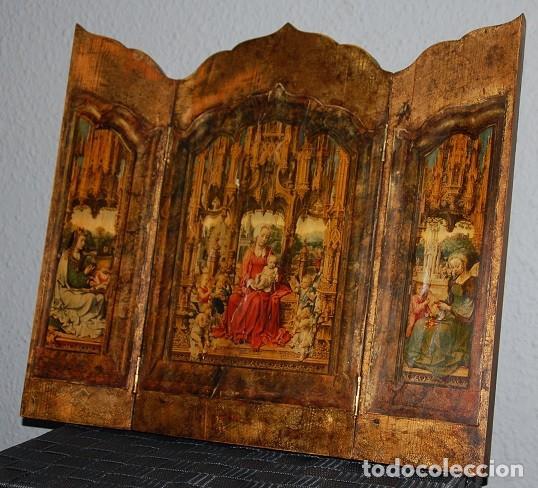 TRIPTICO LA MALVAGNA DE JAN GOSSART 1513 (REPRODUCCION)/TRIPTICO RELIGIOSO IMPRESIONANTE (Arte - Arte Religioso - Trípticos)