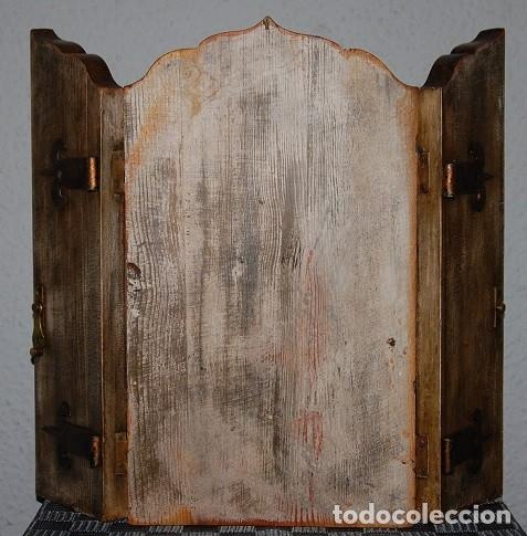 Arte: TRIPTICO LA MALVAGNA DE JAN GOSSART 1513 (REPRODUCCION)/TRIPTICO RELIGIOSO IMPRESIONANTE - Foto 3 - 278302598