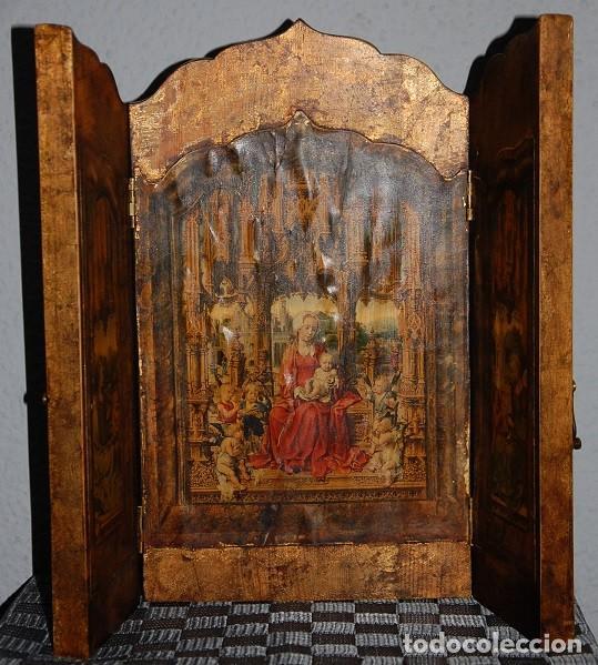 Arte: TRIPTICO LA MALVAGNA DE JAN GOSSART 1513 (REPRODUCCION)/TRIPTICO RELIGIOSO IMPRESIONANTE - Foto 4 - 278302598