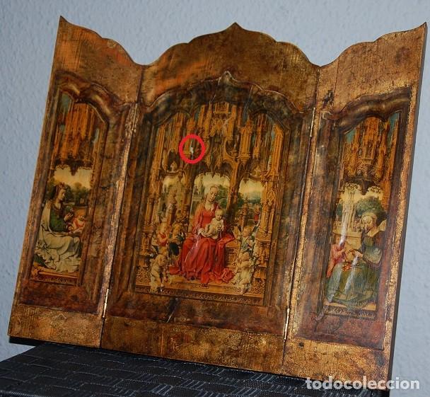 Arte: TRIPTICO LA MALVAGNA DE JAN GOSSART 1513 (REPRODUCCION)/TRIPTICO RELIGIOSO IMPRESIONANTE - Foto 5 - 278302598
