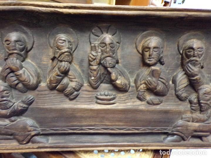 Arte: santa cena de madera tallada retablo para colgar estilo gotico - Foto 2 - 278331248
