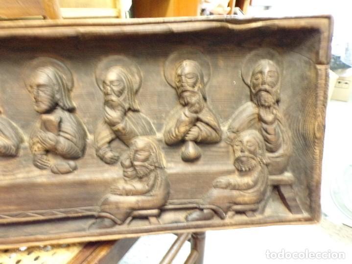 Arte: santa cena de madera tallada retablo para colgar estilo gotico - Foto 3 - 278331248