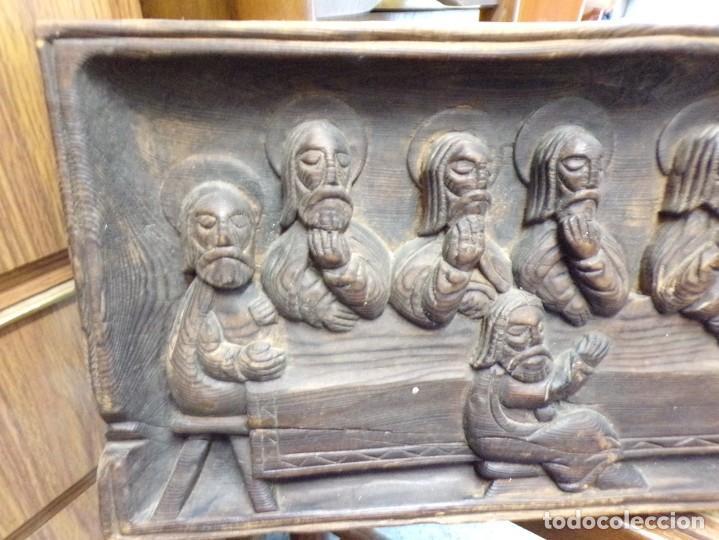 Arte: santa cena de madera tallada retablo para colgar estilo gotico - Foto 4 - 278331248