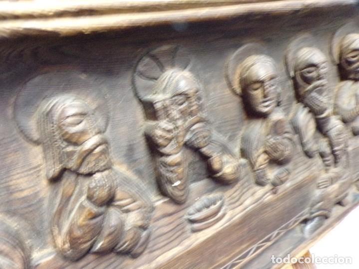 Arte: santa cena de madera tallada retablo para colgar estilo gotico - Foto 5 - 278331248