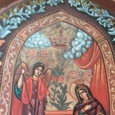 Arte: ICONO RELIJIOSO GRIEGO IMPRESION EN MADERA. Lote 278351248