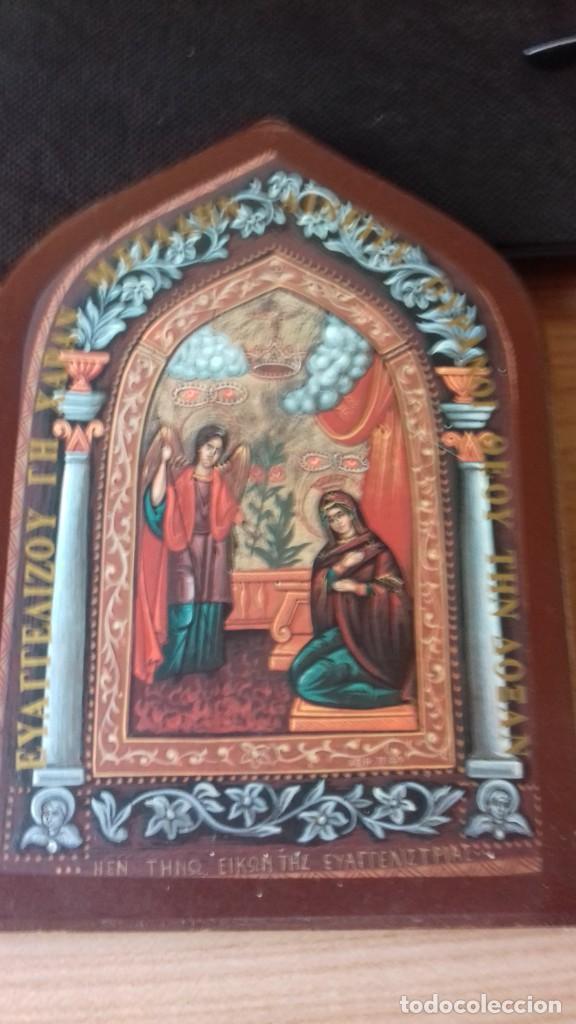 Arte: Icono relijioso Griego impresion en madera - Foto 2 - 278351248