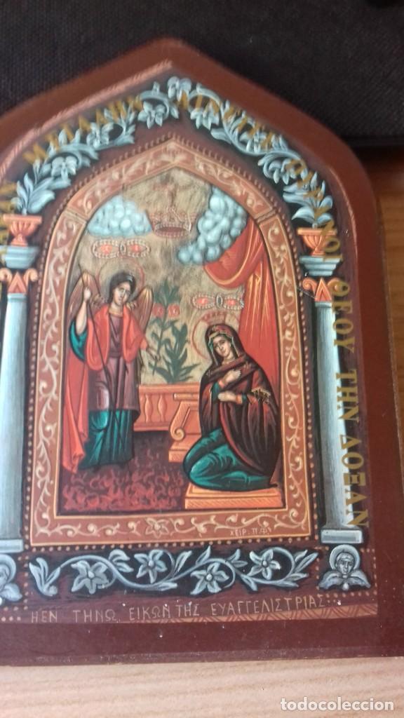 Arte: Icono relijioso Griego impresion en madera - Foto 3 - 278351248