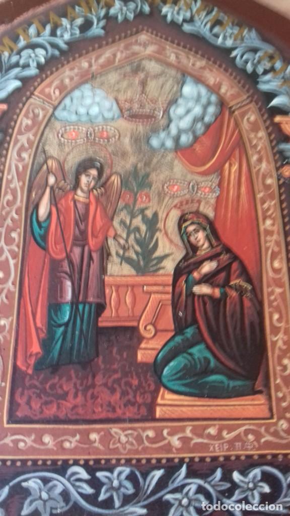 Arte: Icono relijioso Griego impresion en madera - Foto 6 - 278351248