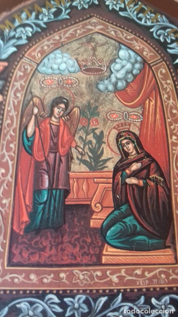 Arte: Icono relijioso Griego impresion en madera - Foto 7 - 278351248