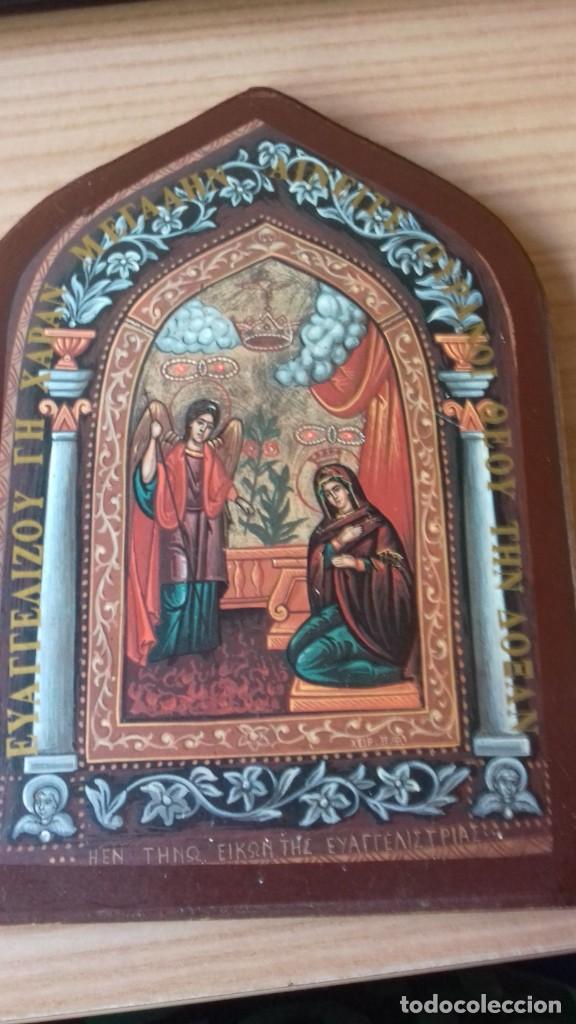 Arte: Icono relijioso Griego impresion en madera - Foto 9 - 278351248