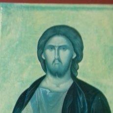 Arte: ICONO RELIGIOSO GRIEGO DE SAN JUAN EVANGELISTA IMPRESION EN MADERA. Lote 278351598