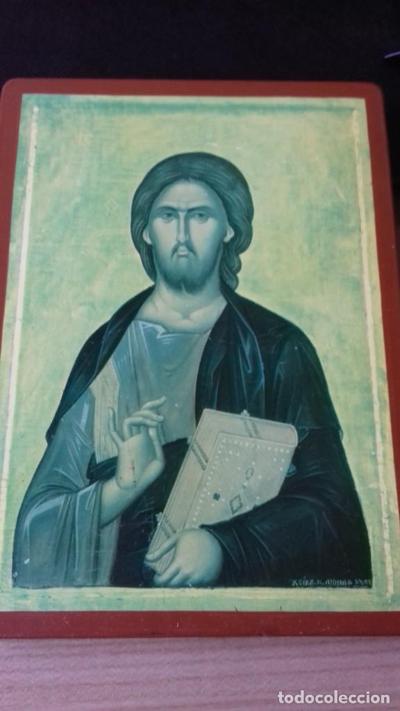 Arte: Icono religioso Griego de San Juan Evangelista impresion en madera - Foto 2 - 278351598