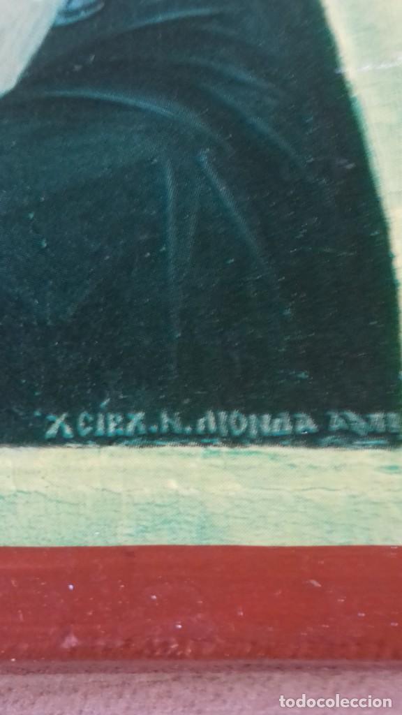 Arte: Icono religioso Griego de San Juan Evangelista impresion en madera - Foto 3 - 278351598