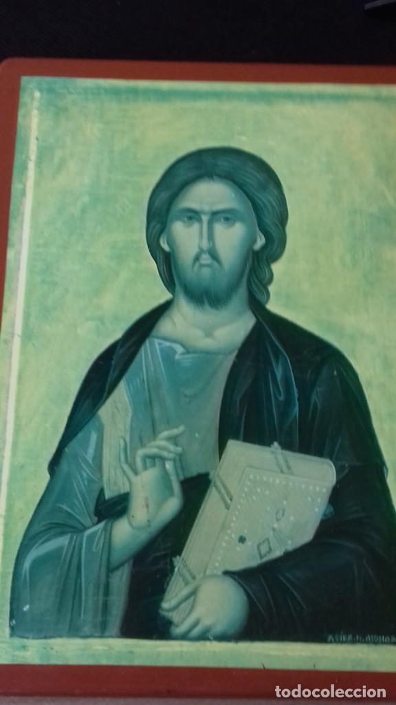Arte: Icono religioso Griego de San Juan Evangelista impresion en madera - Foto 4 - 278351598