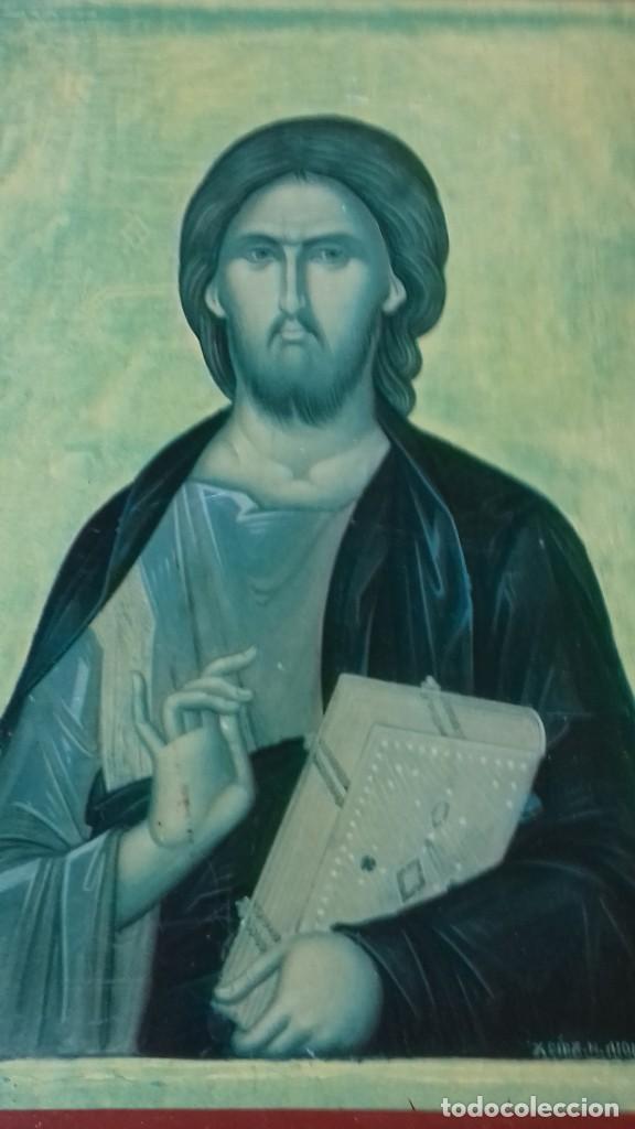 Arte: Icono religioso Griego de San Juan Evangelista impresion en madera - Foto 6 - 278351598