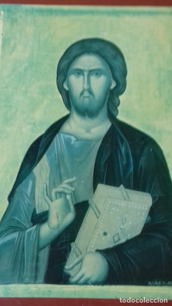Arte: Icono religioso Griego de San Juan Evangelista impresion en madera - Foto 7 - 278351598