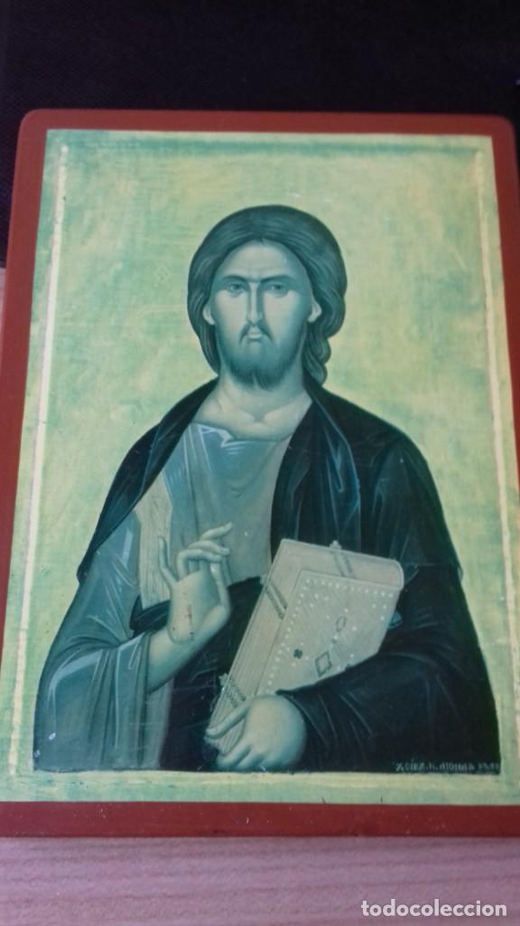 Arte: Icono religioso Griego de San Juan Evangelista impresion en madera - Foto 8 - 278351598