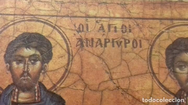 Arte: Icono relijioso Griego impresion en madera de dos Santos - Foto 4 - 278353248