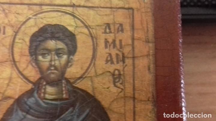 Arte: Icono relijioso Griego impresion en madera de dos Santos - Foto 5 - 278353248