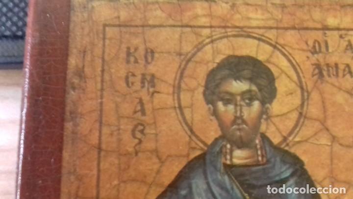 Arte: Icono relijioso Griego impresion en madera de dos Santos - Foto 6 - 278353248