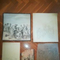 Arte: BOCETOS PARA DECORACIÓN MURAL DE AUTOR ANÓNIMO, BASADAS EN OBRAS DE JULIUS SCHNORR. S.XIX. Lote 278430453